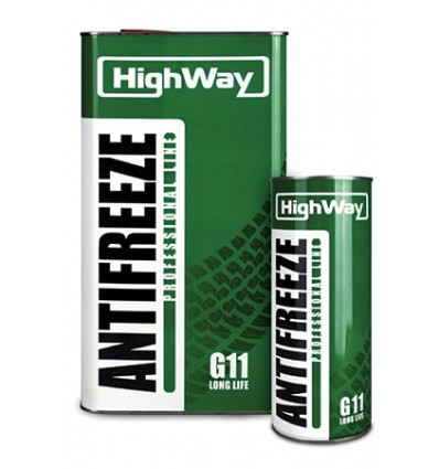 HighWay ANTIFREEZE-40 LONG LIFE G11 зеленый 5kg